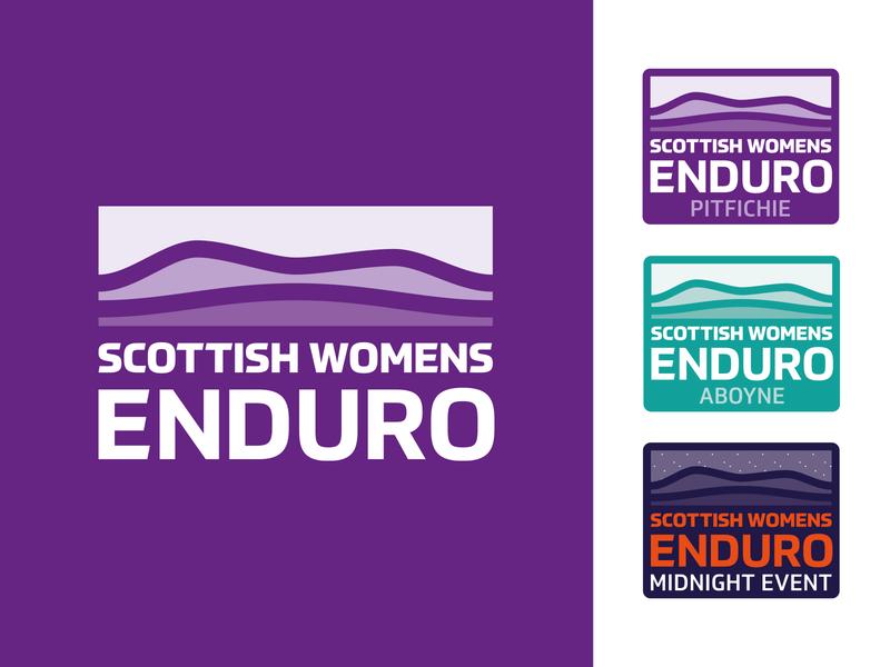 SWE LOGO badge hills mountains logo race event women scottish scotland enduro bike mtb mountain bike