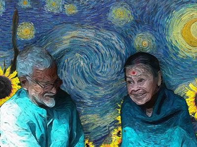 Neel- Dipali (the eternal love) assam illustration digital painting