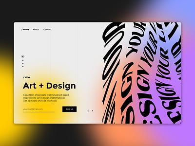 Chaos Design typography ui design chaos