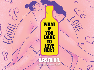 Illustrations for ABSOLUT Cyprus campaign vodka absolut drink equality love brand advertising campaign design illustration
