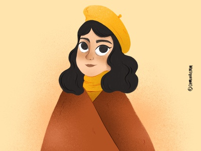 Pumpkin lady process illustration illustrator woman girl orange autumn pumkin