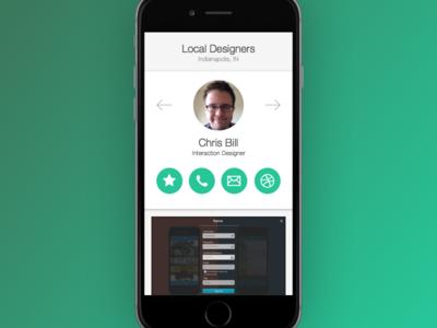 DailyUI 006 User Profile app green user profile profile 006 dailyui ux ui