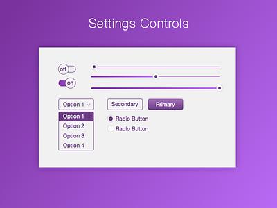 DailyUI 007 Settings Controls 007 controls settings purple ui ux dailyui