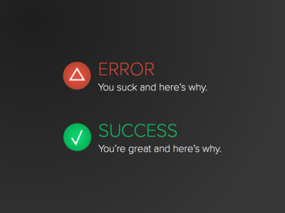 DailyUI 011 Error Success Message