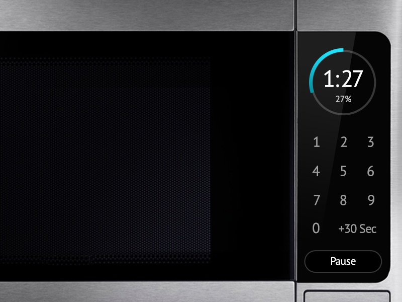 DailyUI 014 Countdown Timer oven clock countdown microwave dailyui ux ui 014