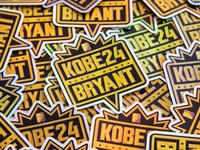 Kobe Holographic Stickers