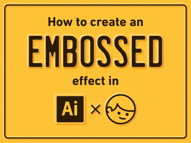 How to create an embossed effect in Ai adobe simple retro vintage blur freebie graphic design illustrator tutorial metal license plate vector design illustration