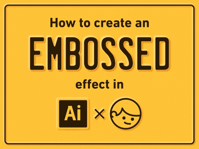 How to create an embossed effect in Ai adobe simple retro vintage blur freebie graphic design illustrator tutorial metal license plate vector design illustration