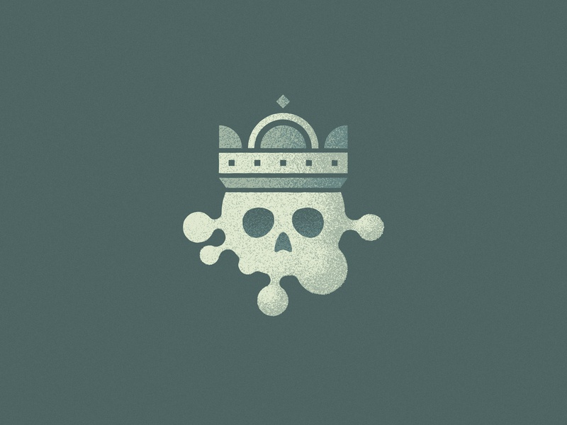 Stay away from him 🙏 stay home noise grain icon logo virus illustration vector crown skull covid coronavirus corona