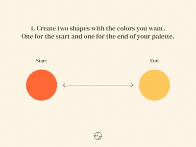 Create a color palette between 2 colors scheme ui design branding simple freebie easy color palette illustration adobe illustrator tutorial