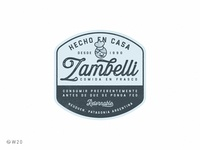 W20 - Zambelli: Comida en Frasco design brand food lettering packaging badge sticker branding logo illustration retro vintage label