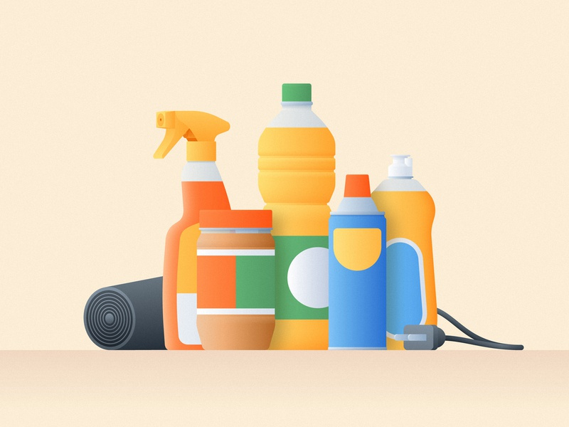 How to remove sticker residue simple tutorial jar food sticker gradient illustration bottle products cleaning clean