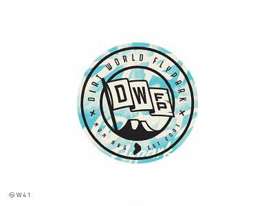 W41 - DWFP branding illustration circle ipad pro procreate sticker sport bmx park flag world jump dirt