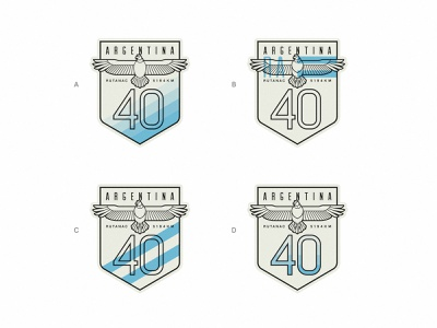 Ruta 40 badge: Which one do you prefer? logo vintage retro stroke illustration sign flag road route condor bird neuquen patagonia argentina ruta 40 badge