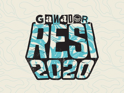 Ganador Resi2020 branding sticker illustration vector texture typography type trash lettering bicycle bmx jump flypark world dirt