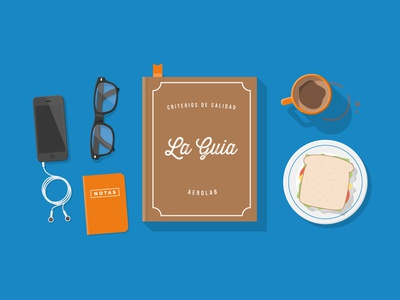 The book book old notes sandwich coffee cup iphone glasses shadow illustration earphones desk