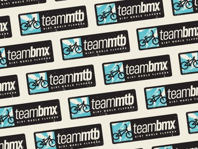 Team BMX or Team MTB? vector stickermule team branding icon illustration sport extreme rectangle sticker bicycle mtb bmx jump dirt