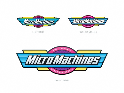 Micro Machines logo cars grid branding vintage sticker illustration logo 1990 90s toy micro machines