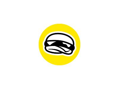 Cheeseburger icon vector simple levitating floating logo cheese illustration food cheeseburger hamburger burger