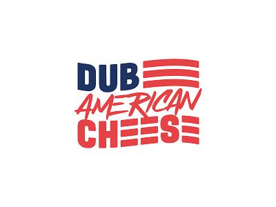 Dub American Cheese illustration food branding brand logo checkered pattern packaging paper hamburger