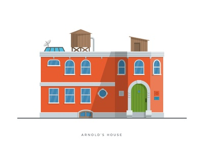 1. Arnold's House hey arnold nickelodeon nick cartoon house illustration 90 nostalgia tv show 1990