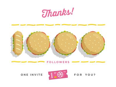 1000 Followers. 1 Invite.