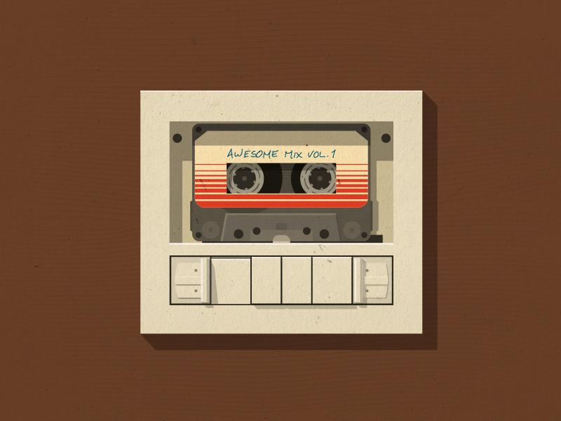 Free Wallpaper  Awesome Mix Vol. 1 guardians galaxy marvel mixtape tape 80  audio 1170e54f332
