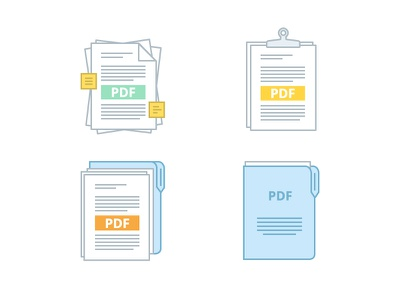 PPPDF icons pdf messy ordered post-it archive folder papers files pixel perfect
