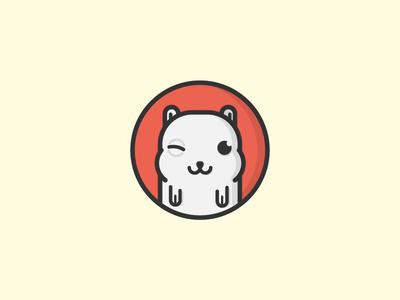 Ulcerated Balboa ulcer hamster cute boxing box mouse mascot pet stroke illustration baby cheeks