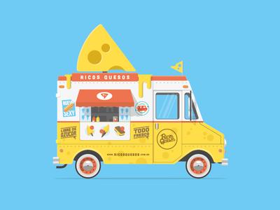 Cheese Foodtruck food truck foodtruck cheese queso illustration flat shadow sketch