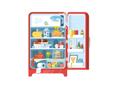 Our fridge! fridge food cheese sticker mule wall decal pizza flat kitchen playoff