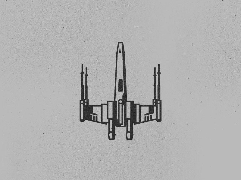 X-Wing Tattoo simple illustration tattoo vector fighter starfighter x-wing- star wars xwing