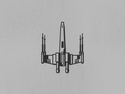 X-Wing Tattoo simple illustration tattoo vector fighter starfighter x-wing- star wars xwing
