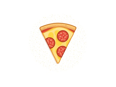 28. Miguel Camacho's recipe project dots color stroke pepperoni texture cheese food slice pizza
