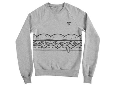 Submarine Sweatshirt playoff illustration food bread ham letuce tomato cheese sandwich submarine sweater sweatshirt