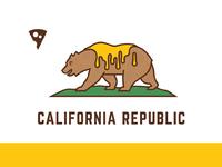 California bear cheese flag