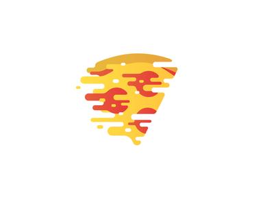 47. Fast's recipe flat illustration melt cheese pepperoni slice pizza food fast