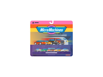 Micro Machines simple flat mule sticker playoff christmas vintage cars toys machines micro