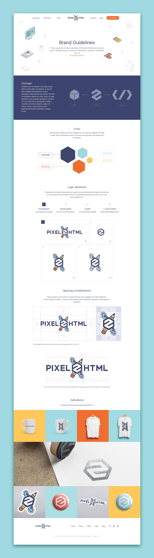 Pixel2html logolanding