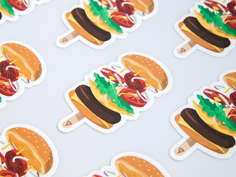 01/07 floating yummy sticker buy mule summer ice cream hamburger burger