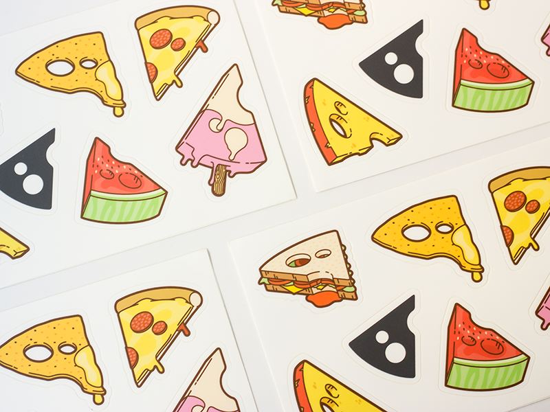 Cheese everywhere stickers