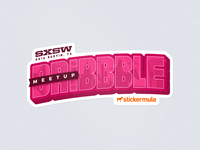 SXSW Dribbble Meetup Sticker
