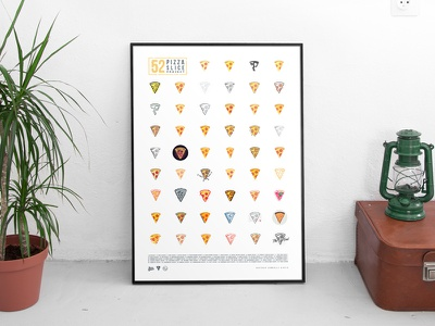 FREE Pizza Poster! food print frame project slice illustration pizza poster free freebie