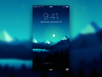 FREE NIGHT for your phone argentina lake cold illustration stars iphone free freebie wallpaper mountains night