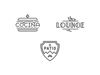 Food, Chill & Air simple stroke melt camping backyard patio typography lounge sandwich food kitchen cocina