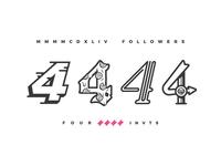 4444 = 4 Invites