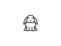 Complete bunny. animal simple logo illustration stroke rabbit bunny