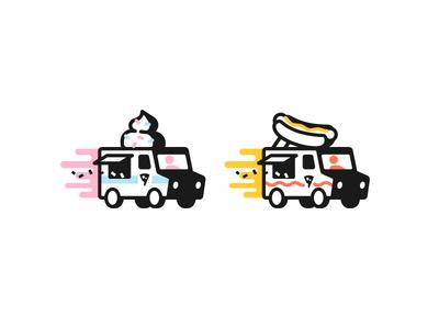 IC vs HD mustard cheese cars tiny stroke fast ice cream hot dog truck food