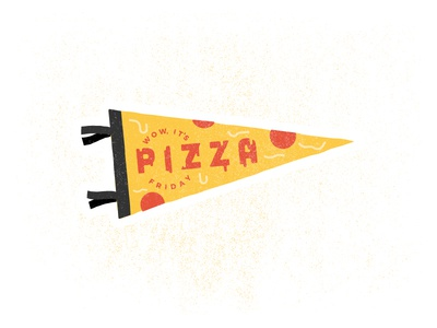 Wow, it's Pizza Friday noise pepperoni mule sticker melt cheese pennant slice pizza