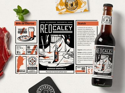Bierhaus Project print illustration food bottle packaging brewery brewing beer project behance